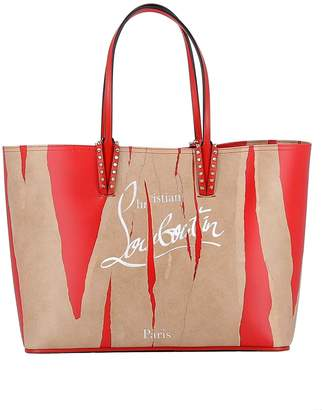 Christian Louboutin Kraft/red Leather Handbag