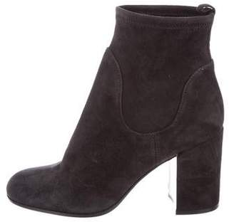 Gianvito Rossi Round-Toe Suede Ankle Boots