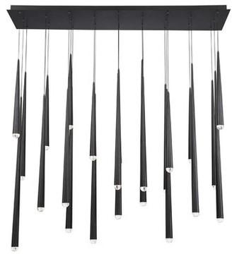 Modern Forms Cascade Linear 23-Light LED Crystal Chandelier Modern Forms