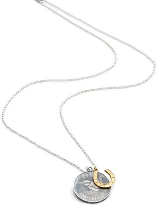 Harry Rocks - Lucky Wren Coin & Gold Horseshoe Charm Necklace