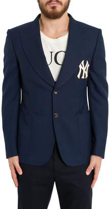 Gucci Twill Jacket With Ny Yankees Patch