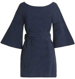 Halston Cotton-Chambray Mini Dress
