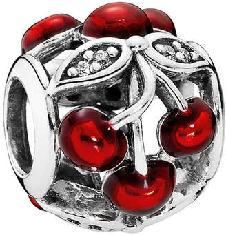Pandora Sweet Cherries Silver Cz & Red Enamel Charm