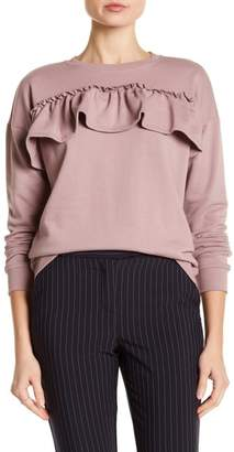 Romeo & Juliet Couture Crew Neck Ruffle Pullover