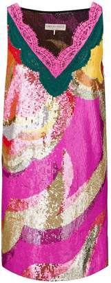 Emilio Pucci lace-trim sequinned dress