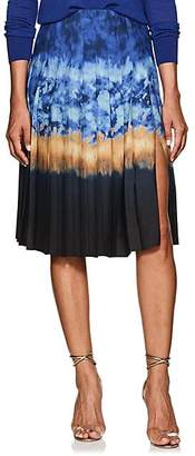 Altuzarra Women's Zurina Pleated Tie-Dyed Skirt - Ceramic Blue