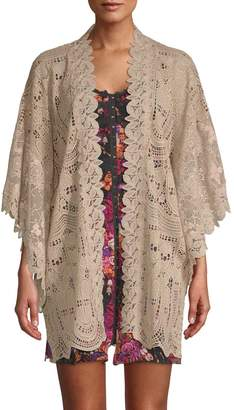 Anna Sui Women's Cupid's Clouds & Scallop Lace Kimono