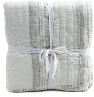 Linen Stripe Quilt Set