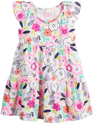 Toddler Girl Jumping Beans Tiered Rainbow Dress