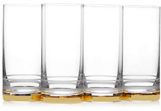 Mikasa Four-Piece Lux Gold Crystal Highball Glass Set