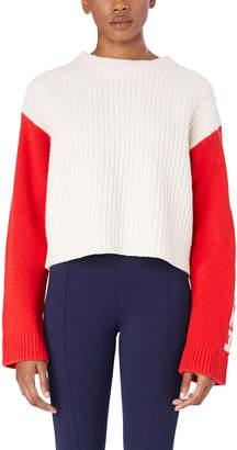 Tory Sport Merino Cropped Apres Ski Sweater