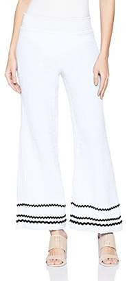 Michael Stars Women's RIC rac Double Gauze Smocked Wide Leg Pant