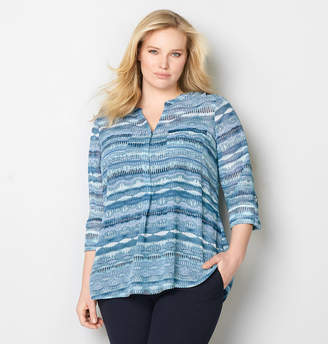 Avenue Blurred Lines Two Pocket Blouse