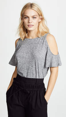 BB Dakota Space Dye Cold Shoulder Tee