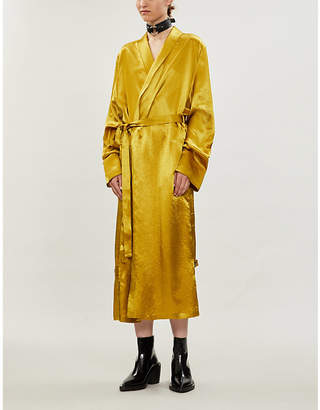 Ann Demeulemeester Wrap over silk-blend midi dress