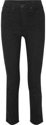 Rag & Bone Cigarette High-rise Slim-leg Jeans - Black