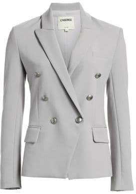 L'Agence Long Sleeve Double-Breasted Blazer