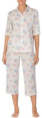 Ralph Lauren Floral-Print Capri Pajama Set