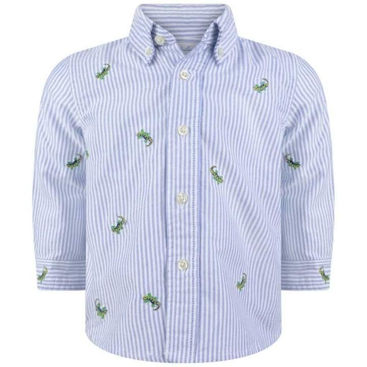 Ralph LaurenBaby Boys Blue Schiffli Oxford Shirt