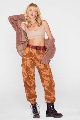 Nasty Gal After Party Vintage Blend In Camo Pants
