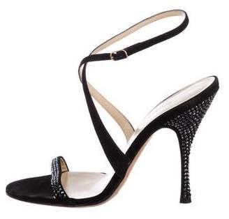 Dolce & Gabbana Embellished Suede Sandals