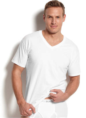 Hanes Men's Big & Tall 4-Pk. Cotton V-Neck Undershirts