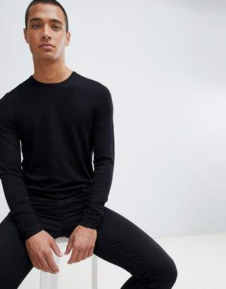 Bershka Muscle Fit Knitted Sweater In Black