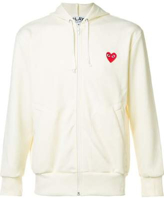 Comme des Garcons embroidered zipped hoodie