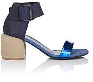 Marsèll Women's Leather Ankle-Strap Sandals - Blue