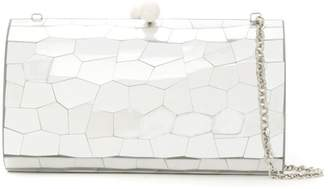Serpui Marie mirrored clutch bag