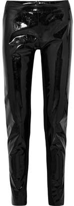 Gareth Pugh Pvc And Stretch-knit Leggings - Black