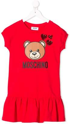 Moschino Kids teddy love t-shirt dress