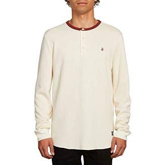Volcom Men's Layer Stone Henley Crew Neck Long Sleeve Shirt
