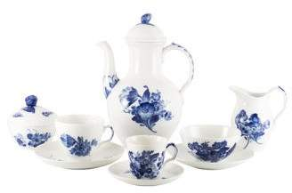 Royal Copenhagen 83-Piece Blue Flowers Braided Coffee & Tea Partial Service