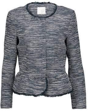 Joie Frayed Cotton-Blend Bouclé Peplum Jacket