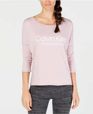 Calvin Klein Logo Dolman-Sleeve Top