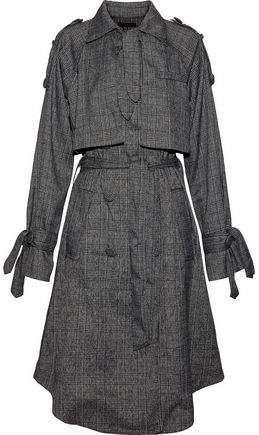 W118 By Baker Neilson Prince Of Wales Layered Woven Trench Coat