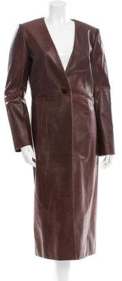 Protagonist Leather Long Coat w/ Tags