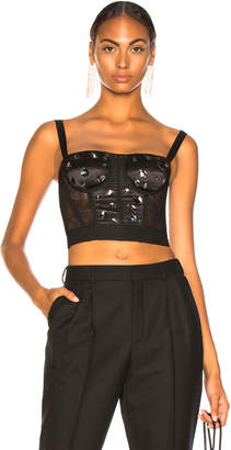 Dolce & Gabbana Tulle Embellished Corset Top