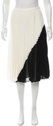 Whistles Pleated Colorblock Skirt w/ Tags $85 thestylecure.com