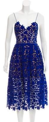 Self-Portrait Sleeveless Lace Dress