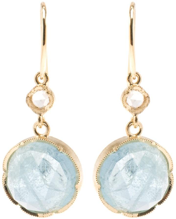 Irene Neuwirth Aquamarine stone earrings