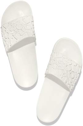 Tory Sport EMBOSSED BANNER SLIDE SANDALS