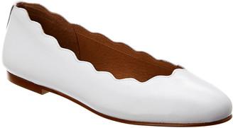 French Sole Razor Leather Flat