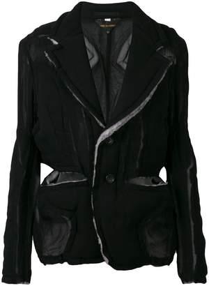 Comme des Garcons raw edge jacket