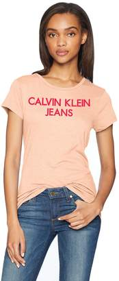 Calvin Klein Jeans Women's Short Sleeve T-Shirt Iconic Logo
