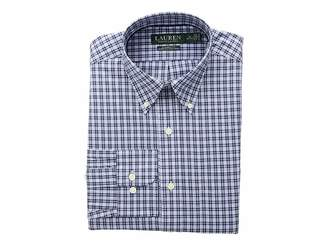Lauren Ralph Lauren Classic Fit No-Iron Plaid Cotton Dress Shirt