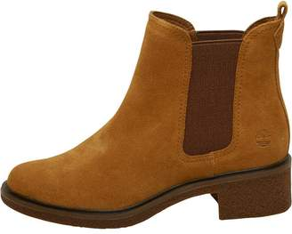 Timberland Womens Brinda Double Gore Chelsea Boots Trapper Tan