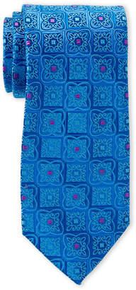 Ike Behar Ike By Tapestry Print Silk Tie