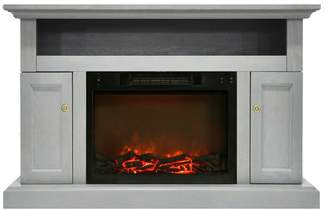 Cambridge Silversmiths Sorrento Electric Fireplace, 1500W Log Insert and 47 Entertainment Stand